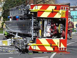 Fire Engine Accident in New Malden