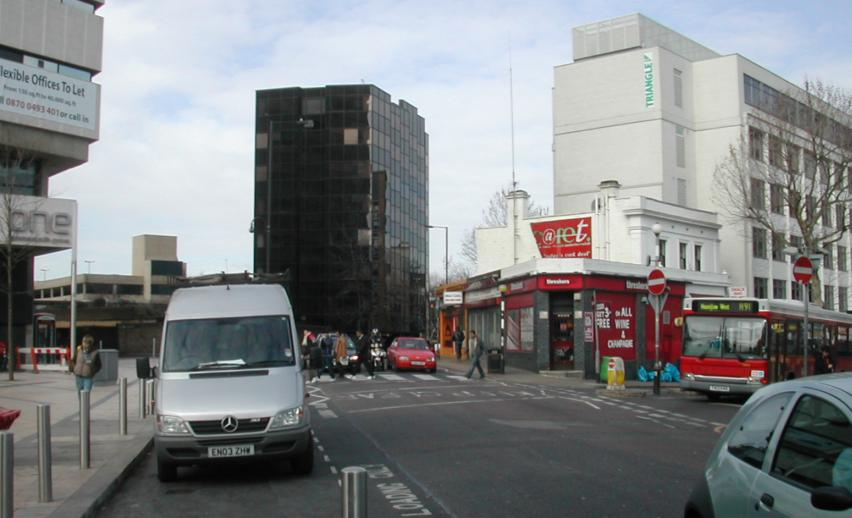 Junction of Beadon Road with Hammersmith Grove