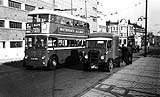 Pre-war picture of trolleybus on route 609