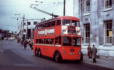 Trolleybus terminus at The Broadway, Wimbledon