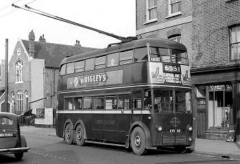 London Trolleybus #1063 in Putney