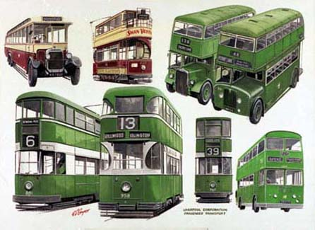Images of Liverpools Buses and Trams