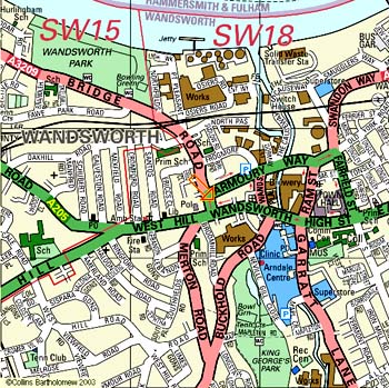 Map of Putney - Click now for an enlarged version